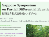 The 39th Sapporo Symposium on Partial DifferentialEquations